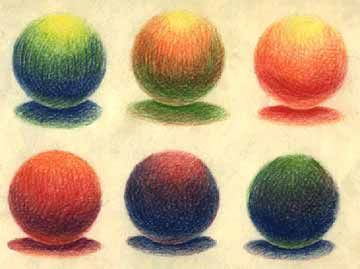 How to blend and create light with colored pencils