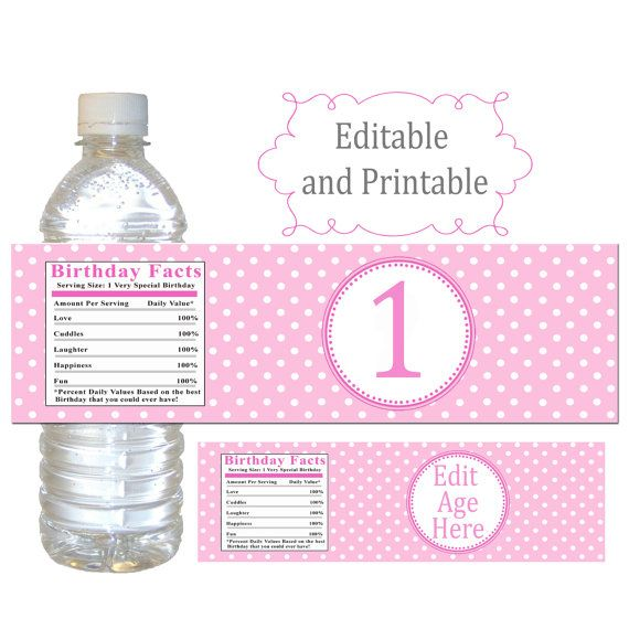 INSTANT DOWNLOAD Printable Editable Birthday Party Water