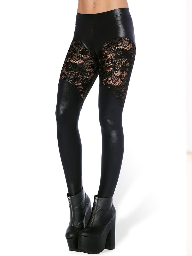 Bootleg Lace Leggings (WW $90AUD / US $72USD) by Black Milk Clothing