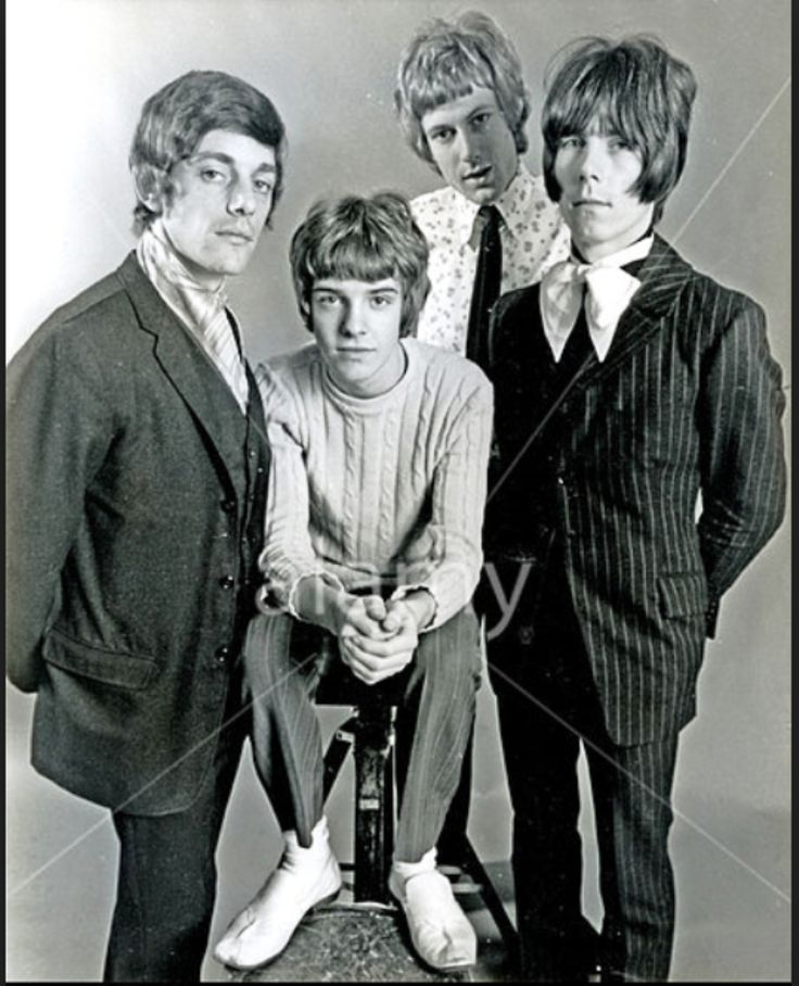 THE HERD UK group in 1966. From Left Andrew Steele, Peter Frampton, Gary Taylor, Andy Bown. Photo Tony Gale