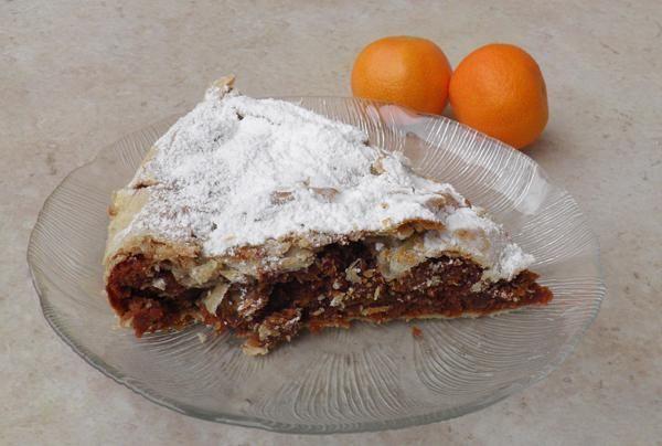 Μανταρινόπιτα με σοκολάτα. Άρωμα μανταρινιού και σοκολάτα σε μια πίτα που θα λατρέψετε!