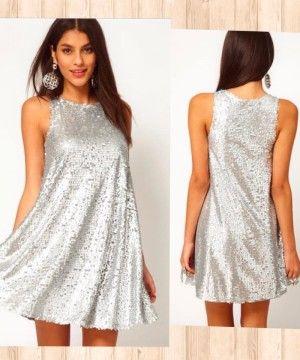 Vestido de #lentejuelas cortito y con vuelo. Un vestido muy alegre para llevar en las fiestas| No Te Puede Faltar #uncapricho #notepuedefaltar