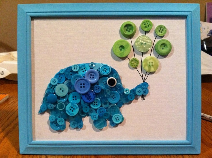 Button Art by Etsy ButtonsAndWood