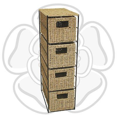 Jvl #seagrass #basket 4 drawer tower storage unit with metal frame home #office,  View more on the LINK: http://www.zeppy.io/product/gb/2/200935168789/