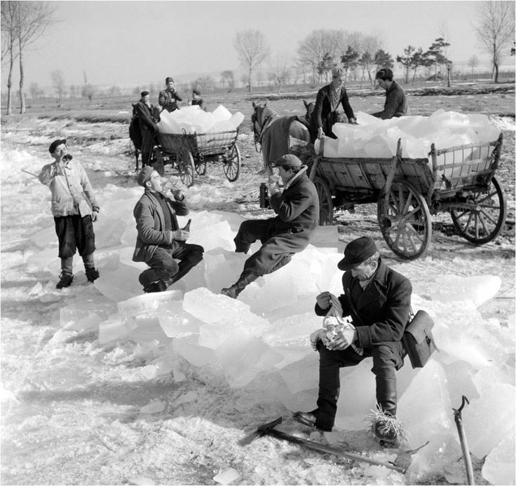 Collecting Ice on Lake Balaton