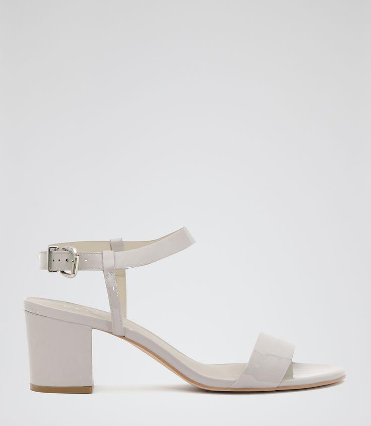 Womens Pale Grey Block-heel Sandals - Reiss Vivi