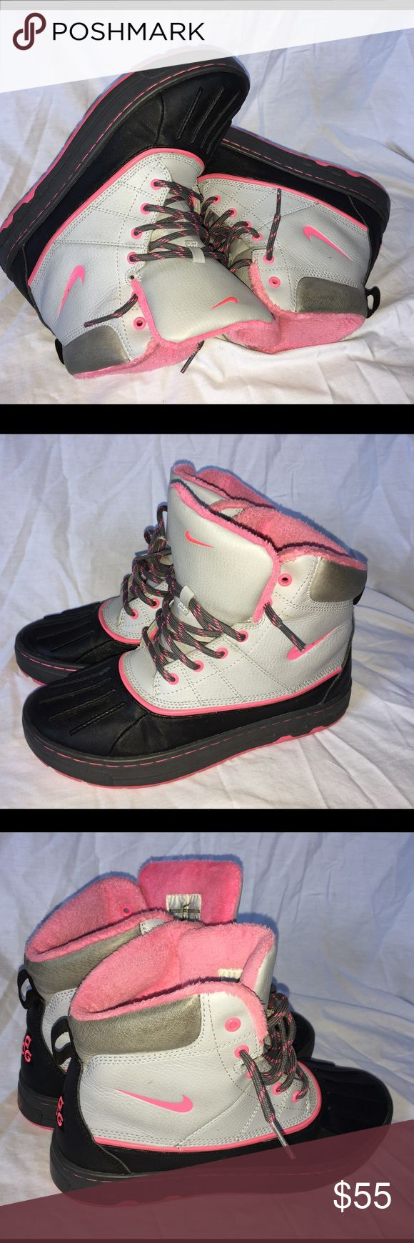 Women's Nike boots size 6,5Y Gently used Nike Shoes Ankle Boots & Booties