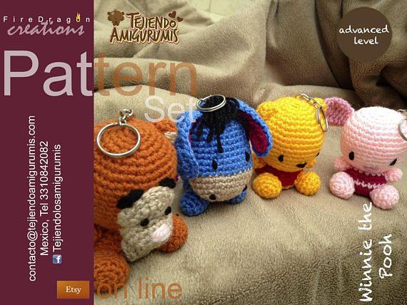Set Patrones de Winnie the pooh Piglet Eeyore y Tigger