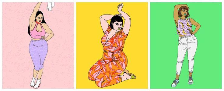 Ilustraciones que deben ver las mujeres que no se sienten hermosas
