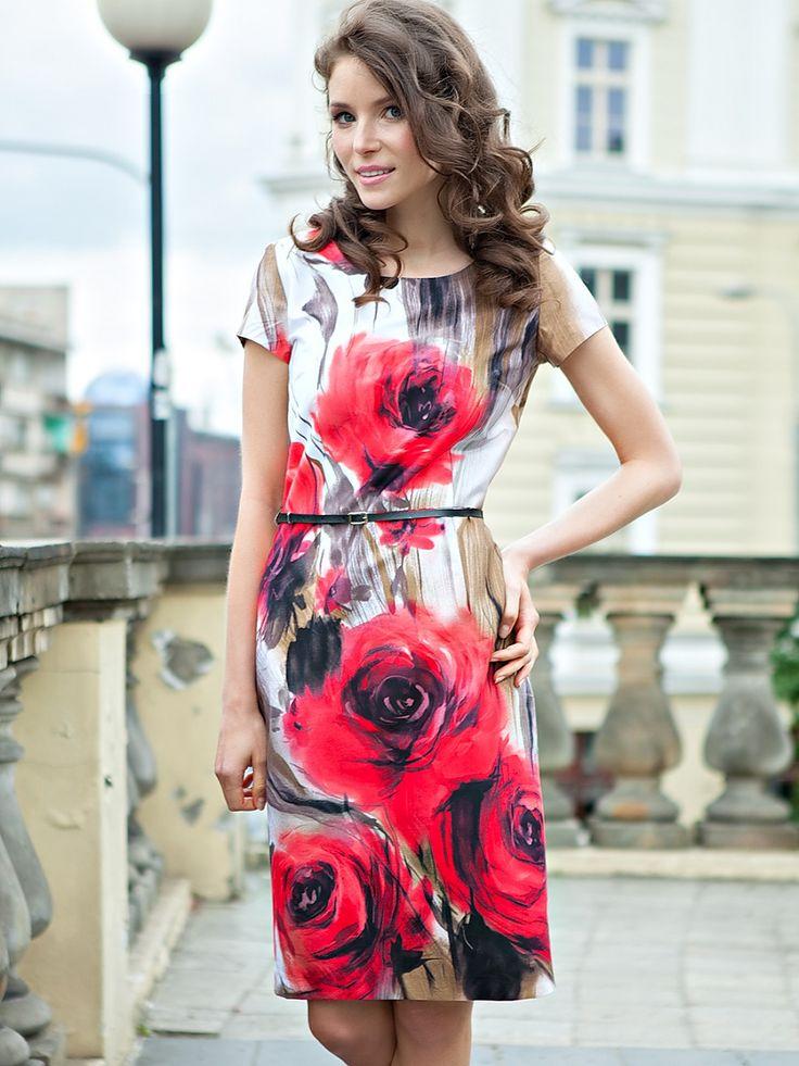 Büyük çiçek desenli pamuklu elbise - Quiosque  http://subbshop.com/tr/b%C3%BCy%C3%BCk-%C3%A7i%C3%A7ek-desenli-pamuklu-elbise-quiosque