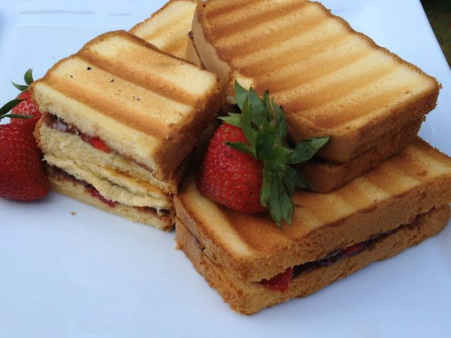 Paninis, Nutella and Strawberries on Pinterest