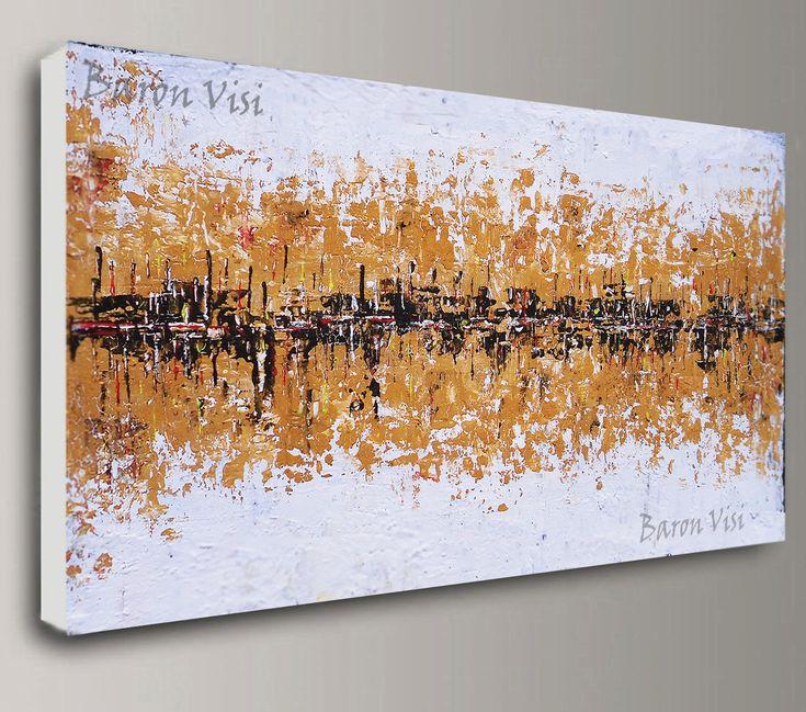 braune abstrakten Malerei Acrylmalerei Kunst Malerei von baronvisi