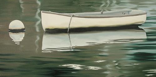 Still Water 15 x 30 Oil on Canvas Shelley Mitchell SOLD www.argylefineart.com
