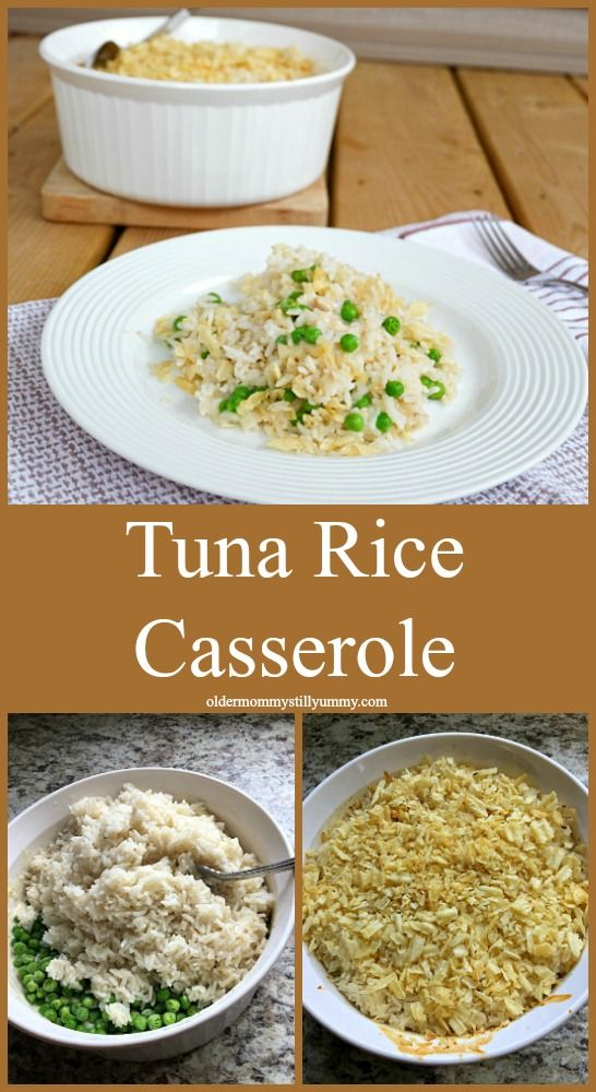 """Classic Tuna Rice Casserole ~ This recipe for Tuna Rice Casserole is perfect for those, """"I have absolutely no idea what we're going to have for supper days! It's quick, it's easy, it's tasty and you most likely have everything you will need sitting in your pantry and freezer right now."""