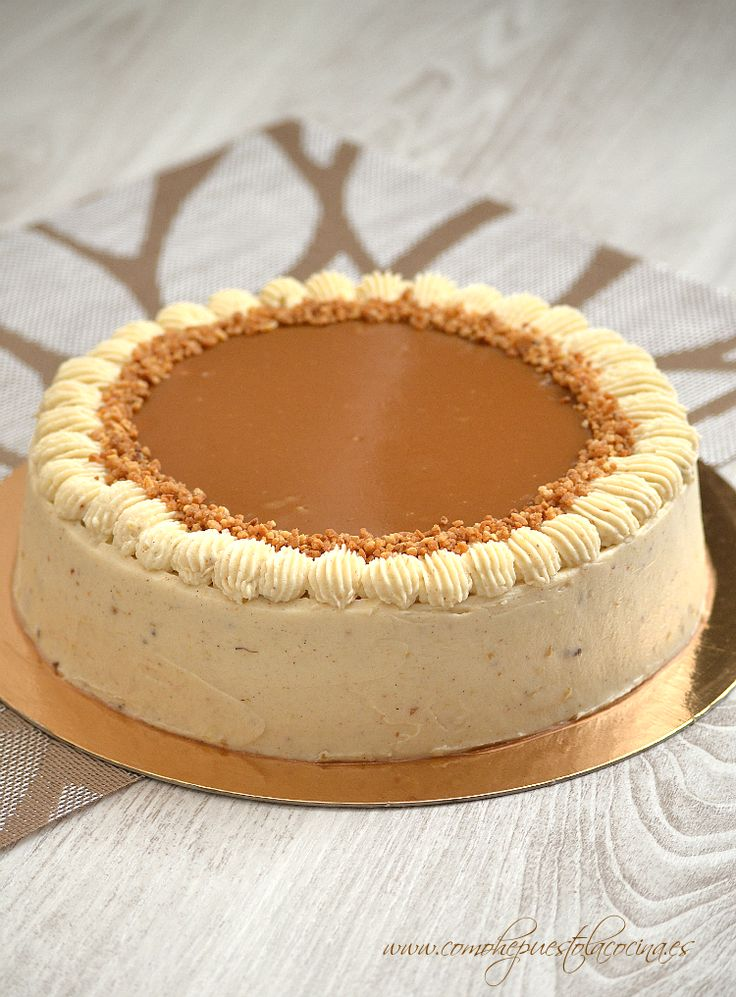 Receta en español de la tarta de manzana asada y salsa de caramelo (toffee). |. Apple caramel cake