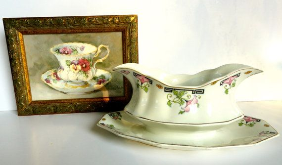Vintage Johnson Brothers Art Deco Asian Gravy by SucresDaintyDish, $15.00