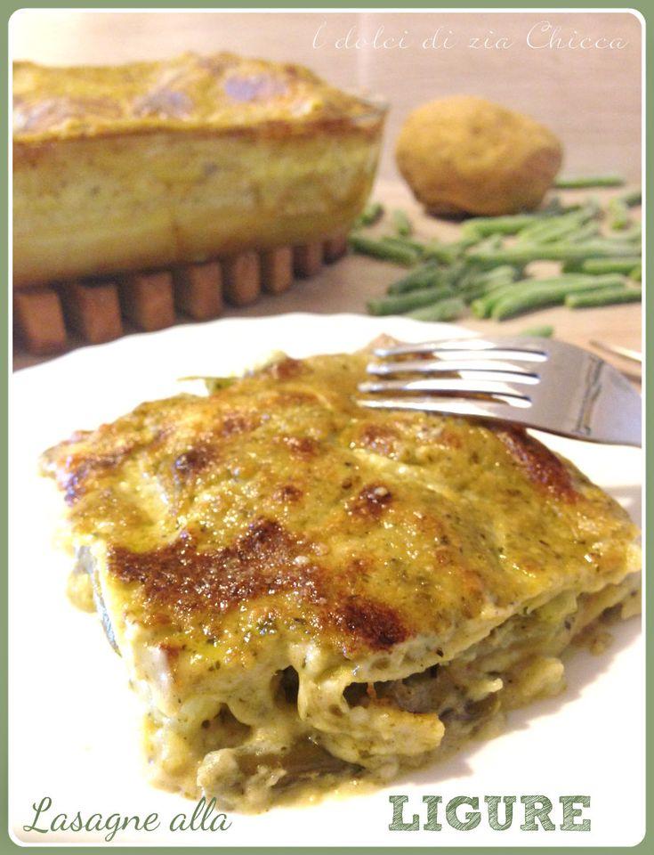 Lasagne con pesto, patate e fagiolini Liguri, un primo piatto semplice e gustoso con cui deliziare grandi e piccini.