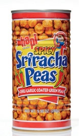 Best Spicy Snack    Hapi Sriracha Peas  Eat them straight up, or crush them and use as a spicy coating for baked chicken.    Per 28 g: 120 calories, 4 g protein, 19 g carbs (1 g fiber), 3 g fat