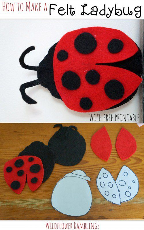 How To Make A Felt Ladybug For Babies Ladybug Felt