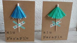 DIY budget   Snel maar origineel 'Aju paraplu' kaartje