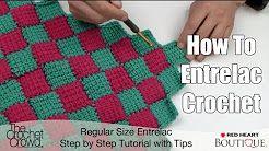 crochet puff braid entrelac blanket - YouTube