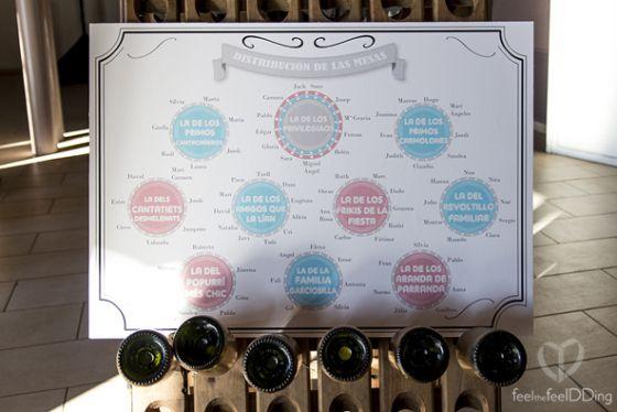 Seating plan en el salón del banquete de #theJackSons13, siguiendo el estilo de las bolas de lotería