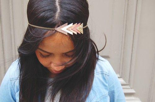 "Headband ""Arrow"" Or rose - Chouette Fille"