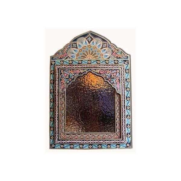 Moroccan mirror & decor, moorish mirror, mediterranean mirror, ethnic... (340 CAD) ❤ liked on Polyvore featuring home, home decor, mirrors, backgrounds, decor y furniture