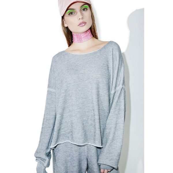 Wildfox Couture Essential 5AM Sweatshirt ($84) ❤ liked on Polyvore featuring tops, hoodies, sweatshirts, terry sweatshirt, wildfox tops, slouchy tops, wildfox and slouchy sweatshirt