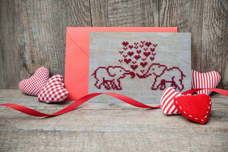 Excited to share the latest addition to my #etsy shop: Elephants in Love cross stitch pattern with hearts. St Valentin's day gift  http://etsy.me/2CsJUaT  #supplies #red #wedding #valentinesday #embroidery #crossstitch #giftforengaged #pattern #download