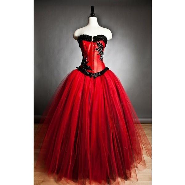 Gothic Ballroom Prom Dress