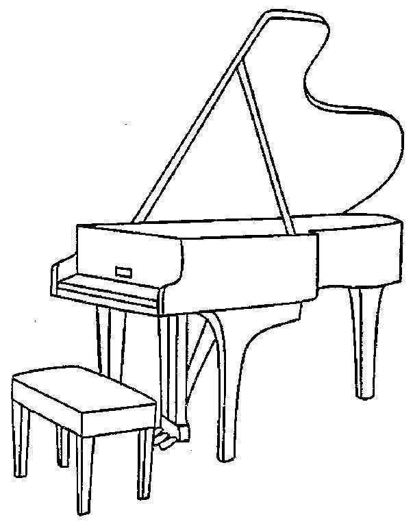 Preschool Piano Coloring Pages Piyano Romero Britto Boyama Sayfalari