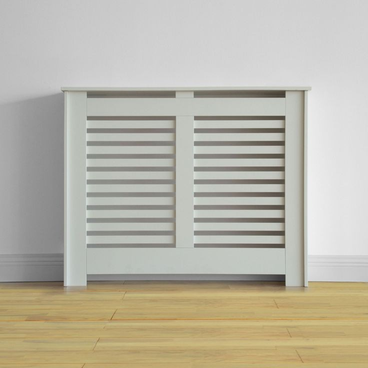 Virginia Radiator Cabinet Cover - Smooth White - (W)100.6 x (H)83.8 x (D)20.3cm at Homebase.co.uk