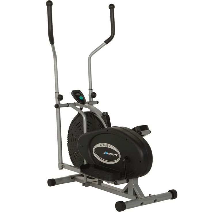 Air Elliptical Trainer with Fitness Monitor Tracking Speed Distance Calories