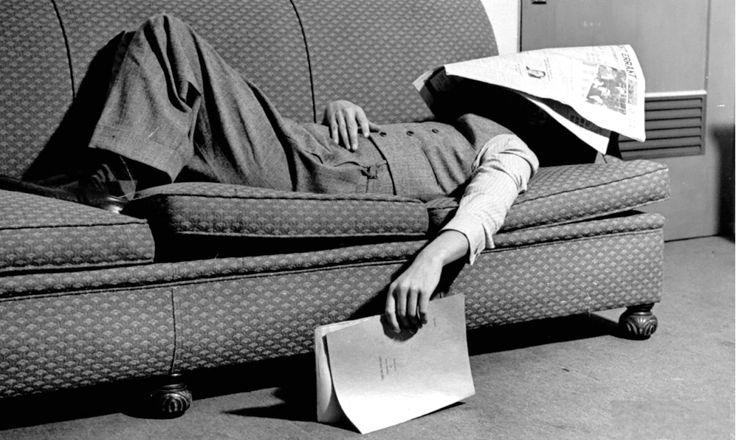 Writer Niven Busch asleep in 1937. Photo Paul Dorsey.