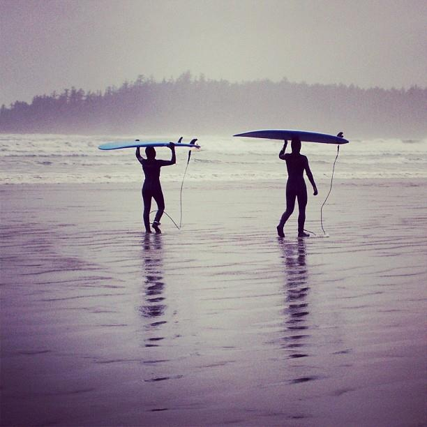 Vancouver Island, just visiting, not surfing however.
