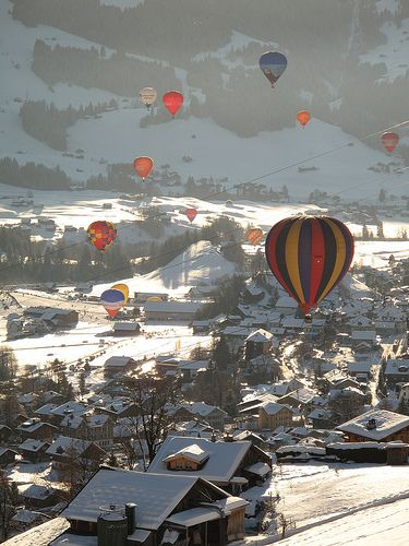 Festival de Ballons, Château-d'Oex, Switzerland. So much would like to attend this festival someday...