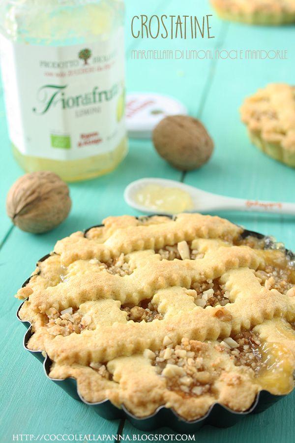Ottima idea per una merendina gustosa e genuina! Crostatine con #fiordifrutta #limoni! #fiordifruttalovers
