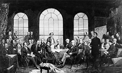 The Fathers of Confederation at the Quebec Conference, 1864
