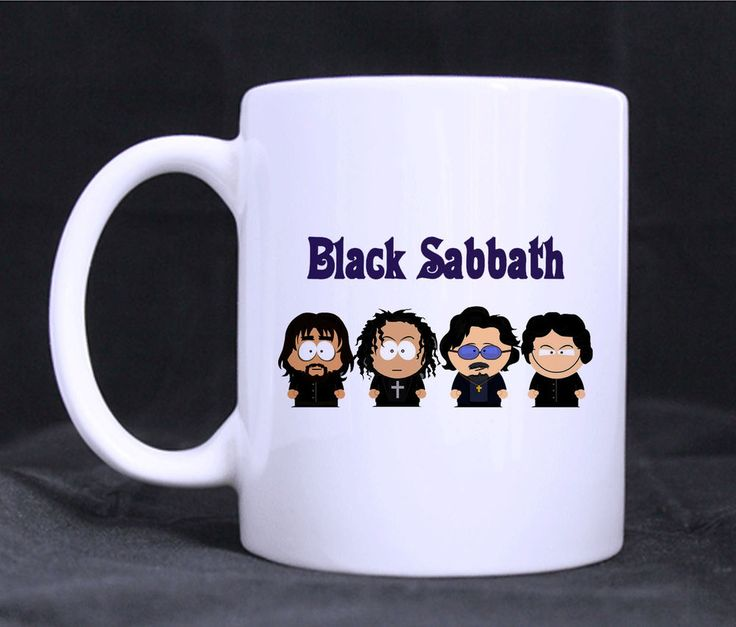 Southpark Black Sabbath Mugs Custom White Ceramic 11oz Mug Coffee tea cup