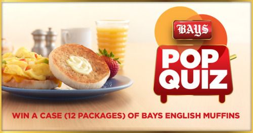 Win a case of Bays English Muffins {US} (02/23/2017) via... sweepstakes IFTTT reddit giveaways freebies contests