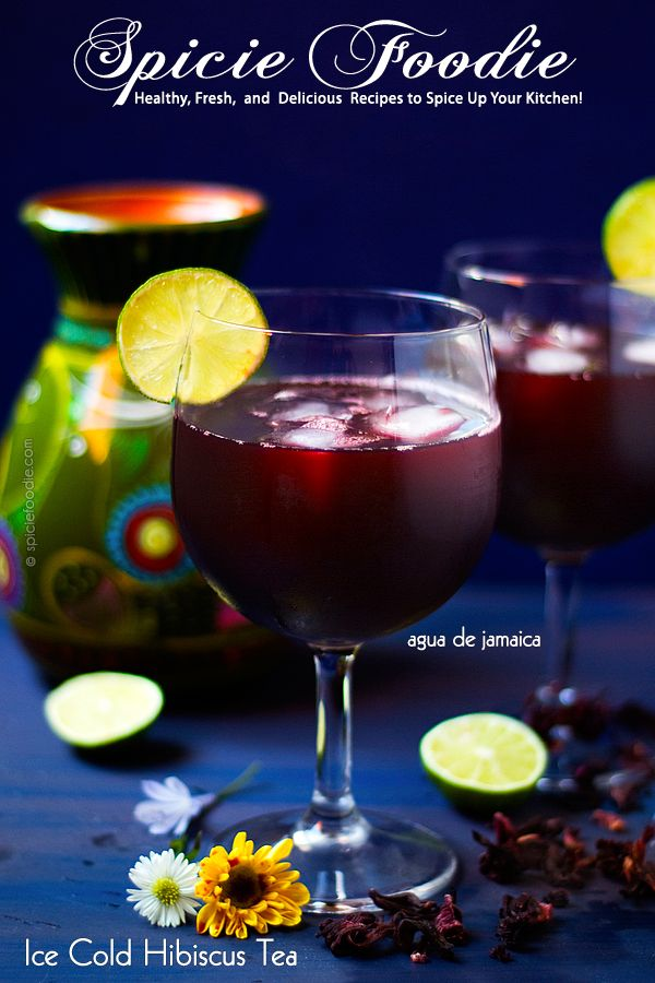 Agua de Jamaica | Ice Cold Hibiscus Tea