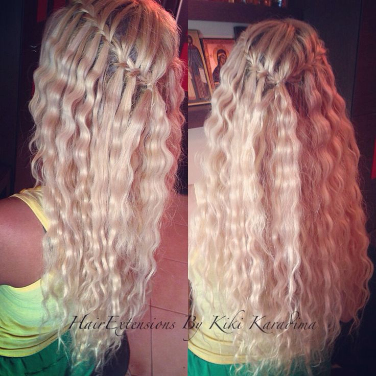 Blonde hair extensions ,Waterfall hairstyle  Remy 100%human hair