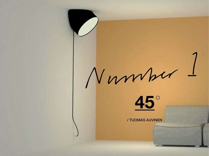 MUUTO TALENT AWARDS WINNER: Tuomas Auvinen, 45° lamp