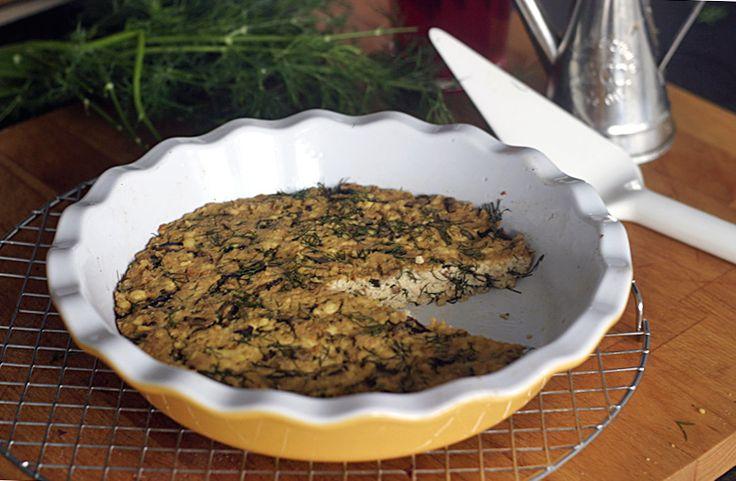 Frittata s houbami shiitake a koprem | Veganotic