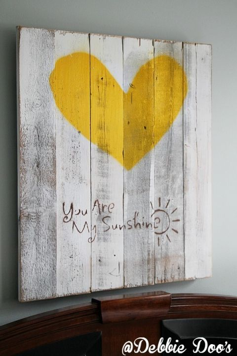 you are my sunshine pallet sign and a bedroom makeover.