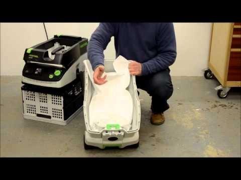 Festool Vacuums: CT Mini and CT Midi Demonstration - YouTube