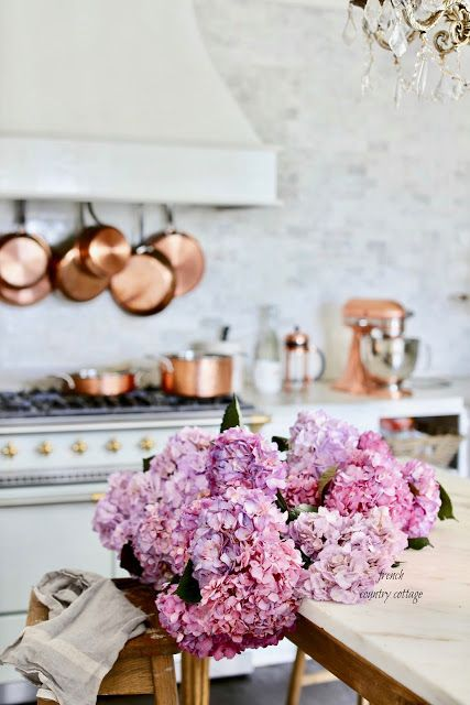 French Cottage Kitchen Style Copper Pots Pans Giveaway