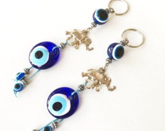 5 pcs felted evil eye beads 4cm handmade by EvileyeFavorSupplies