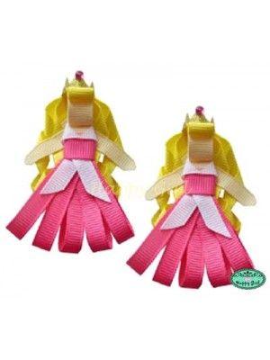 Laço de Cabelo Princesa Aurora com coroa